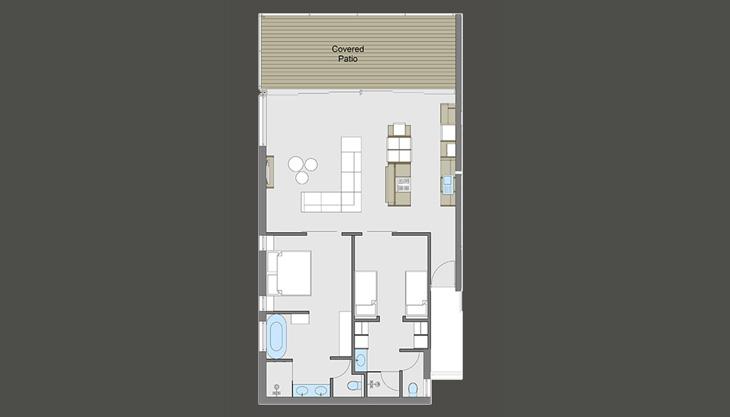 Penthouse layout u2013 the house quarters